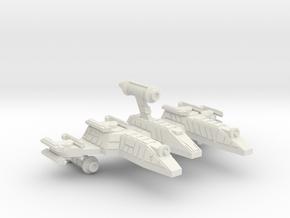3125 Scale Lyran War PF/Gunboat Tender CVN in White Natural Versatile Plastic