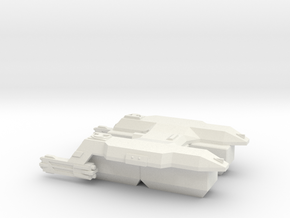 3125 Scale LDR Transport Tug CVN in White Natural Versatile Plastic