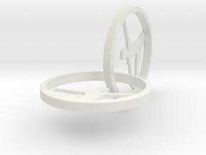 Yoga Earring in White Natural Versatile Plastic