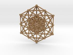 Merkaba Kabbala Grid in Polished Brass