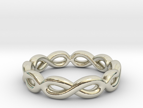 Infinity Ring: Eternal in 14k White Gold: 7 / 54