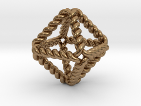 """Twisted Octahedron RH 1"""" in Natural Brass"""