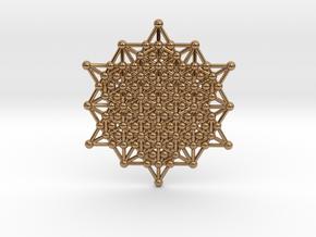 64 Tetrahedron Grid - Merkaba Matrix in Polished Brass