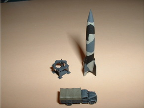 V2 / A4 Rocket 1/285 6mm in Smooth Fine Detail Plastic