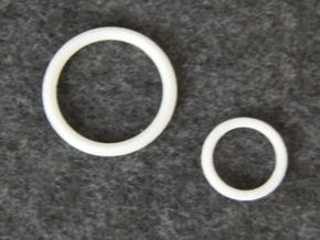 Knight's Belt Ring - 1:3 in White Natural Versatile Plastic