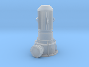 HO Vertical Pump in Smooth Fine Detail Plastic