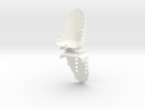 Seat 1 Pair 1/18 in White Processed Versatile Plastic