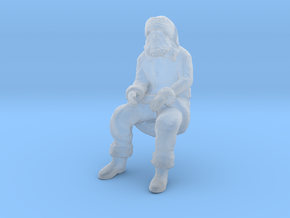 Santa Claus Sitting in Smoothest Fine Detail Plastic: 1:64 - S