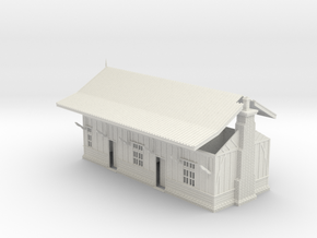 LM74 Hulme End Station Building in White Natural Versatile Plastic
