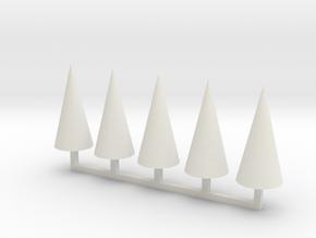 Parkhecke Buchsbaum Kegel 1:120 in White Natural Versatile Plastic