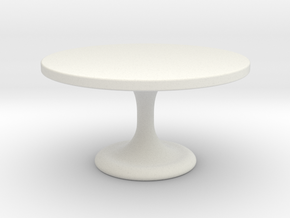 Miniature Neto Table - Minotti in White Natural Versatile Plastic: 1:24