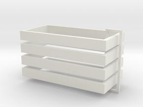 Parkhecke rechteckig (Buchsbaum) 4er Set 1:120 in White Strong & Flexible