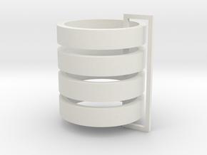 Parkhecke kreisrund (Buchsbaum) 4er Set 1:120 in White Natural Versatile Plastic
