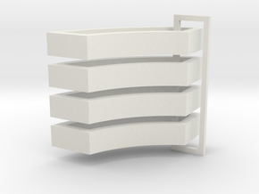 Parkhecke doppelt gerundet (Buchsbaum) 4er Set 1:1 in White Natural Versatile Plastic