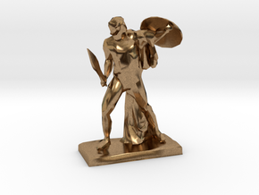 Polygonal Achilles statue in Natural Brass