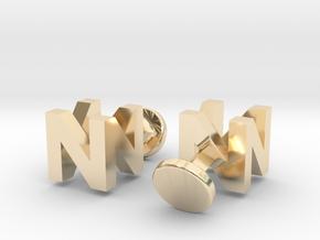 Nintendo 64 Logo cufflinks in 14k Gold Plated Brass