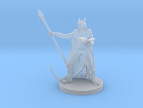 Tiefling Staff Wizard  in Smooth Fine Detail Plastic
