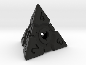 Companion Cube D4 - Portal Dice in Black Natural Versatile Plastic: Large