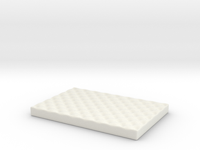 Medium Dog Bed various scales in White Natural Versatile Plastic: 1:24