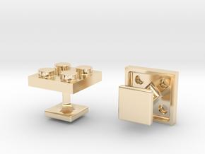Lego Cufflinks in 14K Yellow Gold