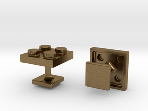 Lego Cufflinks in Natural Bronze