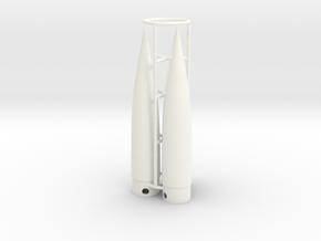 Classic estes-style nose cone BNC-5W x 3 in White Processed Versatile Plastic