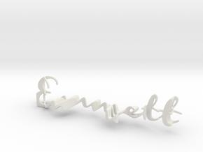 3dWordFlip: Emmett/Asher in White Natural Versatile Plastic