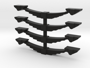 3ft1 Wagon Springs  7mm Scale in Black Natural Versatile Plastic