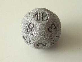 D18 Sphere Dice in Metallic Plastic