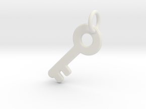 Major Key in White Natural Versatile Plastic: Extra Small