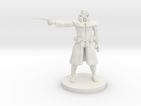 Human Gunslinger v2 in White Strong & Flexible