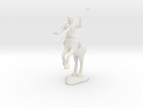 Centaur Warrior  in White Natural Versatile Plastic
