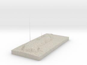 Model of Lundy in Natural Sandstone