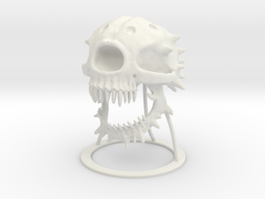 Death Tyrant in White Natural Versatile Plastic: Large