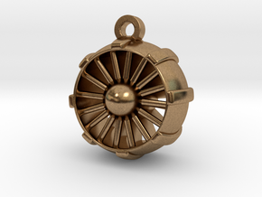 JetEngine Pendant in Natural Brass: Small