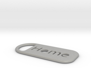 home_keychain in Aluminum