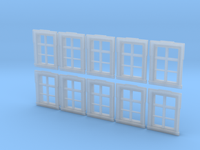 1/72nd scale buildabe windows (10 pieces) in Smooth Fine Detail Plastic