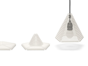 ZooM lampshade M - 19 rows in White Strong & Flexible