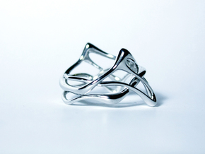 Melpomène Ring in Rhodium Plated