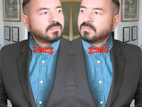 Bowtie bones in Red Processed Versatile Plastic