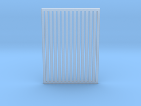 Bubblenose Pete Grill Verticle Slat 1/64 in Smooth Fine Detail Plastic