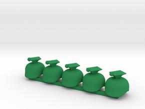 5 x Ulan WWI  in Green Processed Versatile Plastic