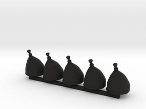 5 x Grenadier Hats in Black Premium Versatile Plastic
