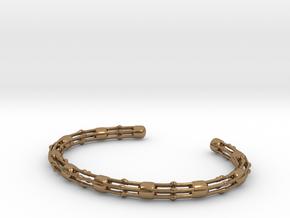 Skeletonema Bracelet - Science Jewelry in Natural Brass: Medium