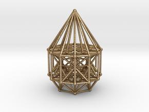 Merkaba Matrix Stargate XL in Polished Gold Steel