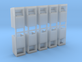 Altkleidercontainer 10er Set 1:72 in Smooth Fine Detail Plastic