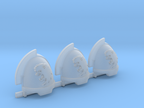 Commission 8 Gravus shoulder pads x3 in Smooth Fine Detail Plastic