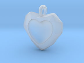 Frozen Heart Pendant in Smooth Fine Detail Plastic