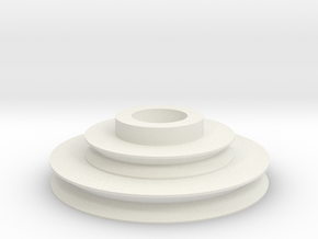 Imperial Disk With Notch .8  in White Natural Versatile Plastic