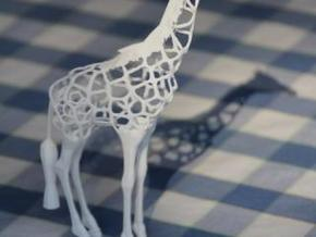 Voronaffe: Voronoi Giraffe with spheres inside in White Natural Versatile Plastic